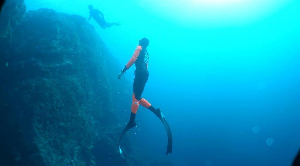 Plongée en mer en apnée